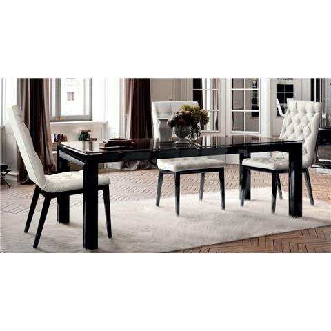 Camel La Star Day Black Italian Large Extending Dining Table