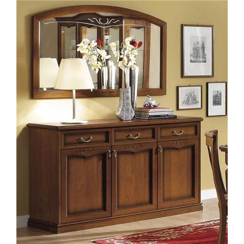 Camel Nostalgia Day Walnut Italian Large Buffet Sideboard