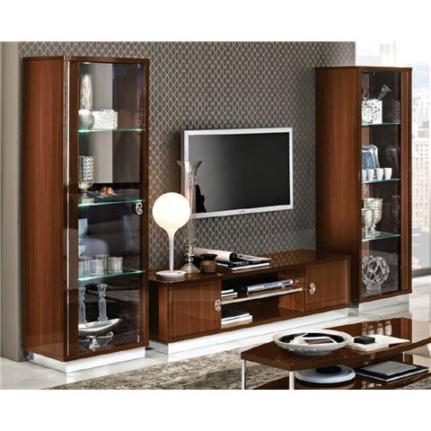 Camel Roma Day Walnut Glamuor Italian Living Composition