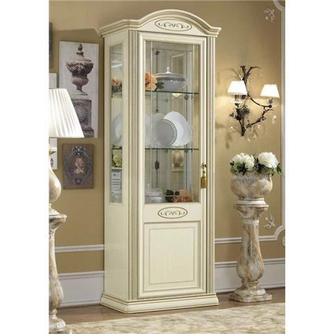 Camel Siena Day Ivory Italian Vitrine with 1 LED Light
