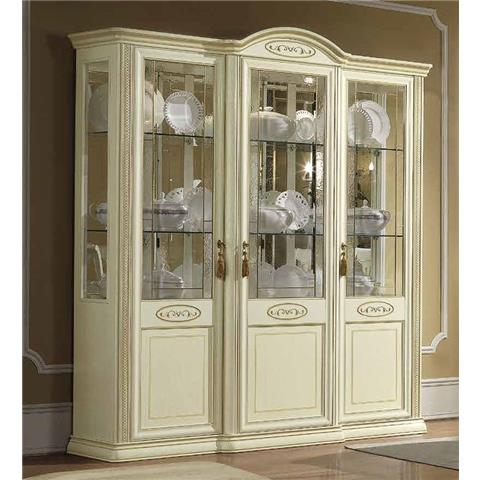 Camel Siena Day Ivory Italian Vitrine with 3 LED Light
