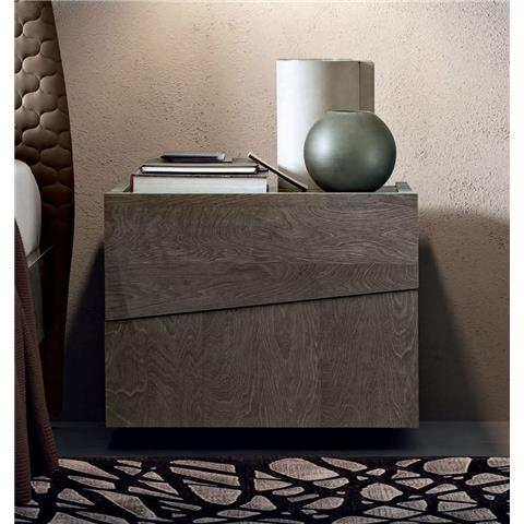 Camel Teckno 2 drawer bedside table