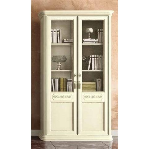 Torriani Day Ivory Italian 2 Door Bookcase
