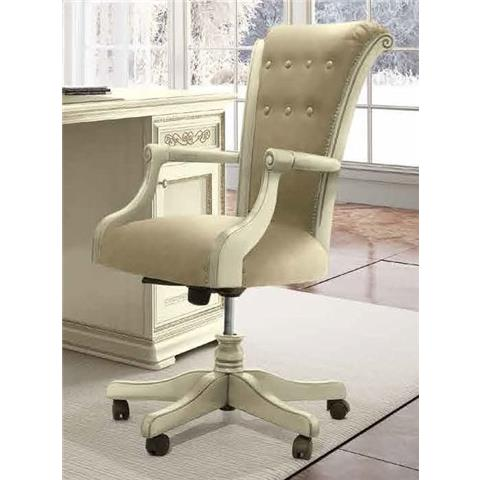 Torriani Day Ivory Italian Wheels Armchair