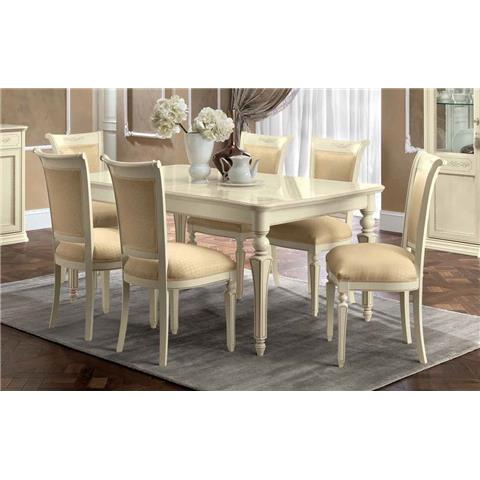 Torriani Day Ivory Italian Extending Dining Table and Chairs