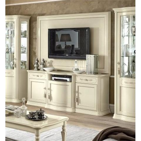 Torriani Day Ivory Italian Large TV Cabinet