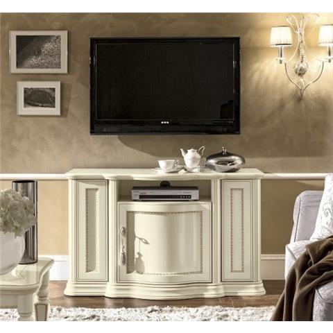 Torriani Day Ivory Italian TV Cabinet