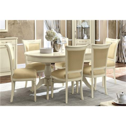 Torriani Day Ivory Italian Oval Extending Dining Table and Chairs