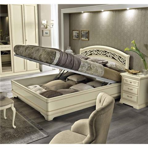 Camel Torriani Night Ivory Botticelli Italian Bed with Storage
