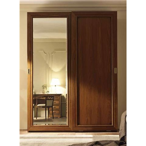 Camel Torriani Night Walnut Italian Piana Door Sliding Wardrobe