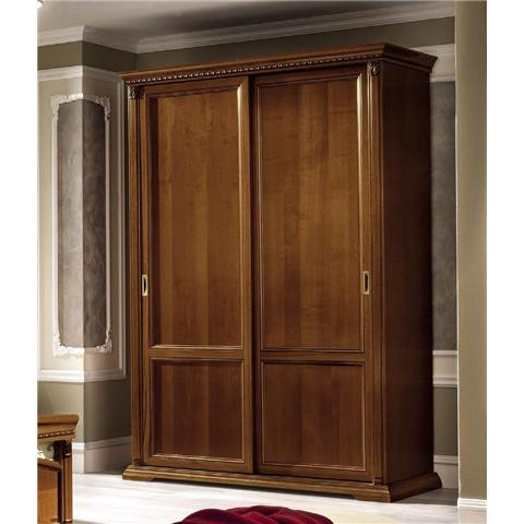 Camel Treviso Night Cherry Wood Italian 2 Door Sliding Wardrobe