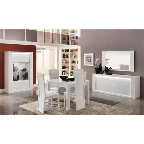 Venezia Italian White Highgloss 2 Door Wall Unit