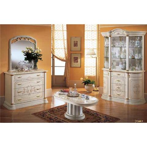 Florence Italian Cream 3 Door Wall Unit