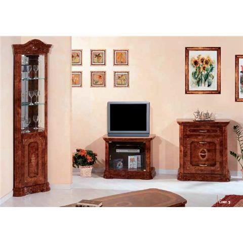 Amalfi Walnut Corner Cabinet Unit
