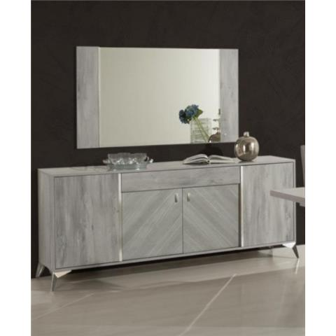 H2O DESIGN ALEXA LIGHT GREY GLOSSY 4 DOOR BUFFET