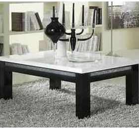 Prestige Black & White Diamante Coffee Table