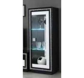 Prestige Black & White Diamante 1 Door Unit