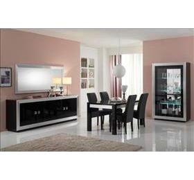 Silver Black Highgloss Dining Room Collection