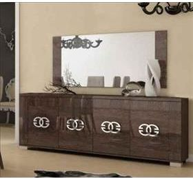 Prestige Umber Birch 4 Door Sideboard