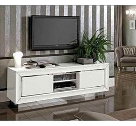 Dama White Highgloss Plasma TV Unit