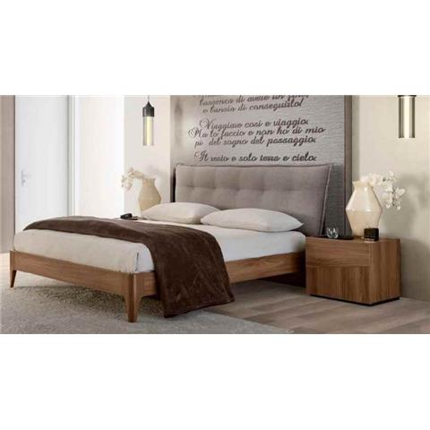 Camel Letto Storm Soft Wooden Italian Bed