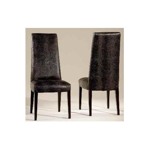 Stone International Juliette Leather Dining Chair with Wenge Legs