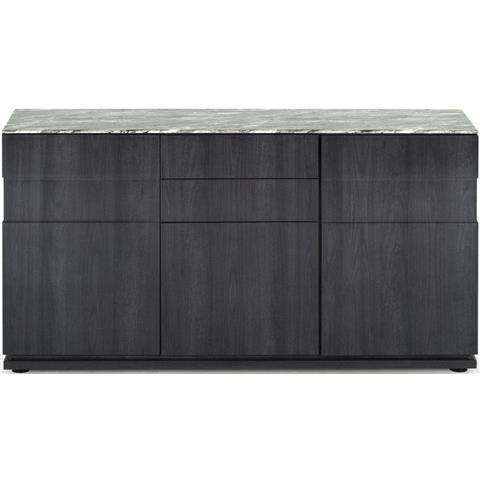 Donatella Grey Marble 3 Door Sideboard
