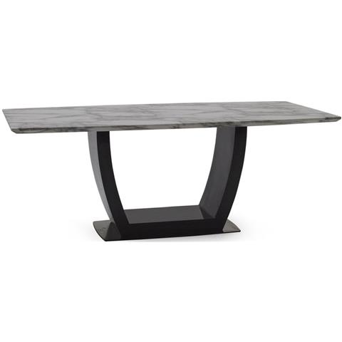 Luciana 160cm Grey Marble Dining Table