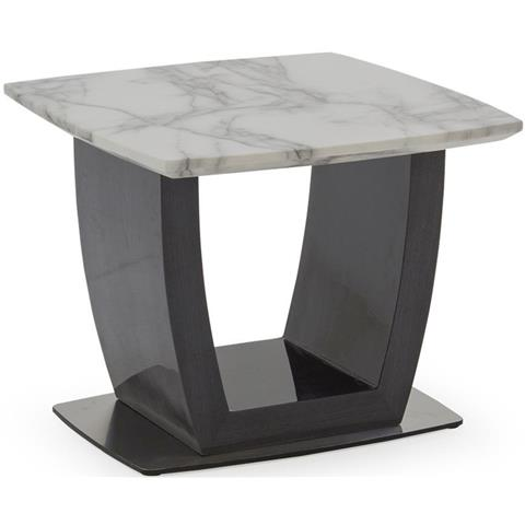 Luciana Grey Marble End Table