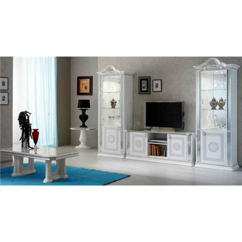 Venus White & Silver TV Plasma Unit