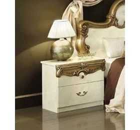 Camel Barocco Ivory and Gold Italian Night Table - 2 Drawers