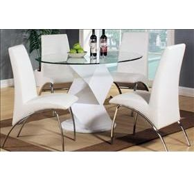 ROWLEY ROUND WHITE DINING SET