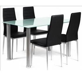 TATUM RECTANGULAR GLASS DINING SET