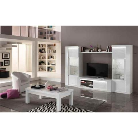 Venezia Italian White Highgloss TV HI-FI Unit