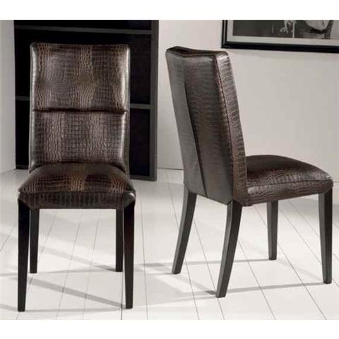 Stone International Lisa Leather Dining Chair with Wenge Legs