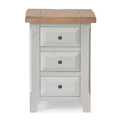 Abingdon 3 Drawer Bedside Table