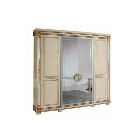 Arredoclassic Liberty Ivory with Gold Italian 4 Door Wardrobe