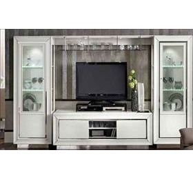 Dama Highgloss White Living Room Wall Unit