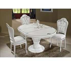 Prestige Round White Highgloss Dining Table