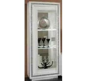 Prestige White Diamante 1 Door Wall Unit