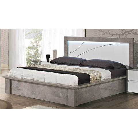 Milano Grey Highgloss 160cm Bedframe