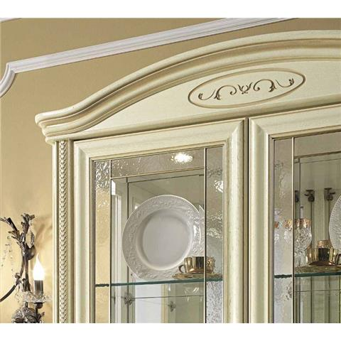 Camel Siena Day Ivory Italian Vitrine with 2 LED Light