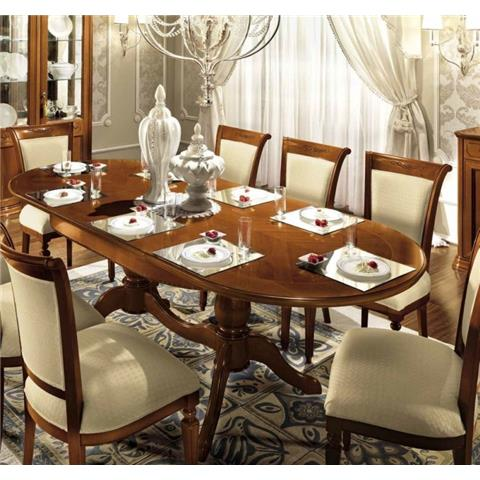Torriani Walnut Large Ex Table Including 6 Chairs