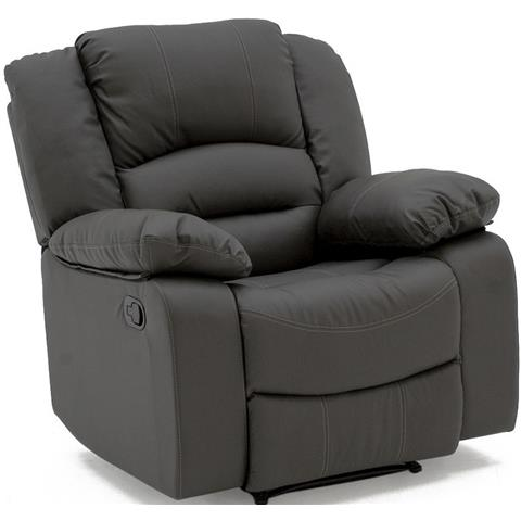 Vida Living Barletto Grey Faux Leather Recliner Chair