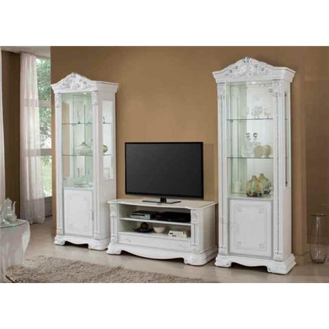 Prestige Highgloss White 1 Door Wall Unit