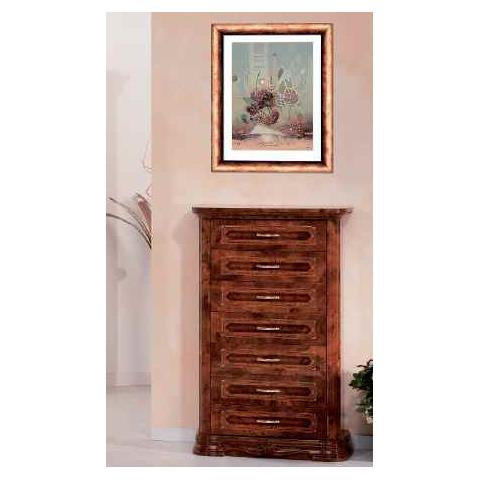 Amalfi Walnut 7 Drawer Chest