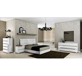 Dream White Highgloss Bedroom Collection