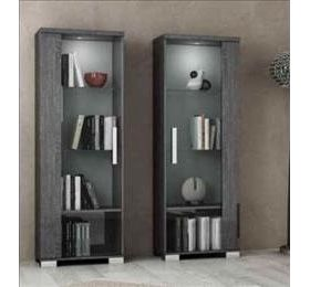 Sarah Highgloss Grey Birch 1 Door Wall Unit