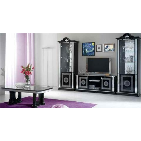 Venus Black & Silver 1 Door Wall Unit