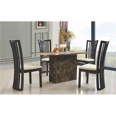 Cincinnatti Marble Dining Table Only with Marble Base